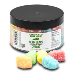 Kentucky's Best Hemp Sour Bears - 25ct 250mg