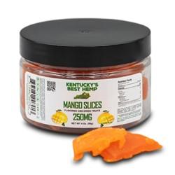Kentucky's Best Hemp Dried Fruit - Mango Slices 250mg
