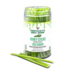 Kentucky's Best Hemp - Green Apple Honey Sticks 10ct 10mg