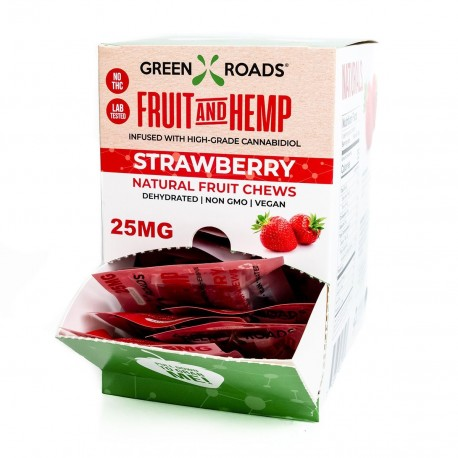Green Roads On the Go Gravity Box 30/25mg Fruit & Hemp Strawberry