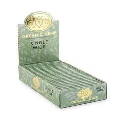 JOB Organic Hemp Single Wide Papers - 24ct Box