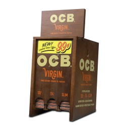 OCB Virgin Papers Booklet Display - 99¢ Pre-Priced 72ct
