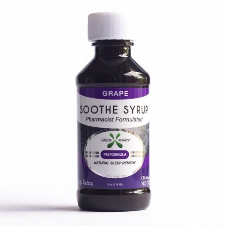 Green Roads Soothe Syrup - 4oz 60ml GRAPE