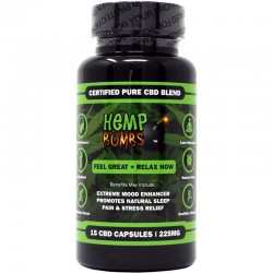 Hemp Bomb Capsules 25ct Bottle 375mg
