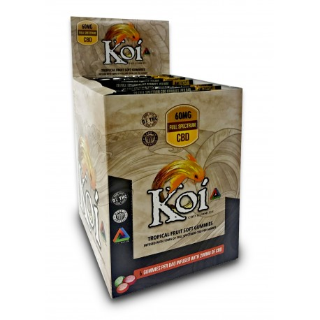 KOI CBD Gummies 60mg (12ct/dsp) - TROPICAL FRUIT