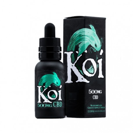 KOI Eliquid 30ml (500mg) - JADE (Watremelon Green Apple Sour)