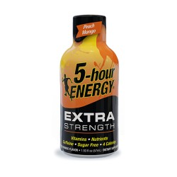 5 Hour Energy 12ct Extra Strength Peach Mango