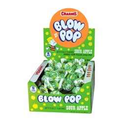 Charms  $0.25 Blow Pop 48ct - Sour Apple