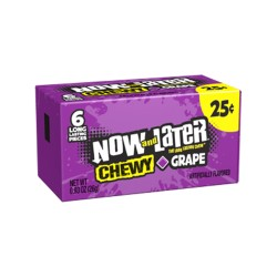 Now & Later 24/6pc SOFT (CHEWY) Grape
