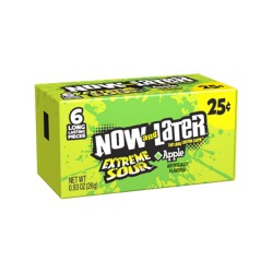 Now & Later 24/6pc SOFT (CHEWY)  Extreme Sour Apple