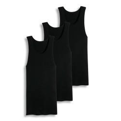 Cotton Plus  A-Shirt  -  BLACK 5X (1dz)