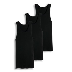 Cotton Plus  A-Shirt  -  BLACK S (1dz)