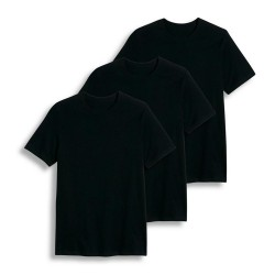 Cotton Plus - Crew Neck  BLACK  2X