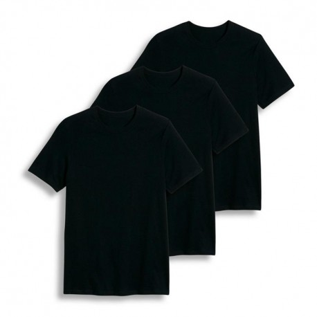 Cotton Plus - Crew Neck  BLACK  6X