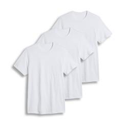 Cotton Plus - Crew Neck  WHITE  L