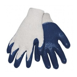 Gloves  BLUE LATEX PALM 1/2 dz