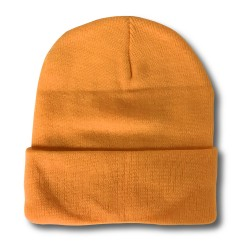 Plain Skull Cap  -  ORANGE