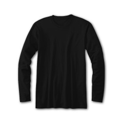 Cotton Plus Long Sleeve BLACK  (XL)