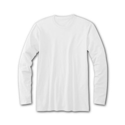 Cotton Plus Long Sleeve WHITE  (2X)