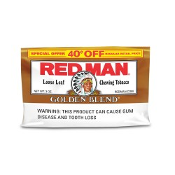Red Man 12/3 oz. Pouch $.40 OFF Silver