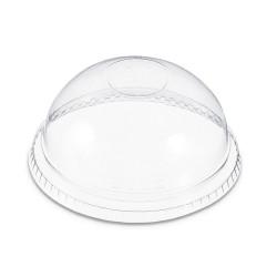 Lid Clear Plastic _Dome_ 16oz & 24oz 100ct Sleeve  (142138) (DLKC16/24)