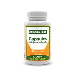 CBDistillery Capsules 30ct  25mg Full Spectrum