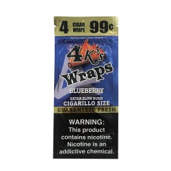 Four Kings 30ct Wraps 4/$.99 - BLUEBERRY