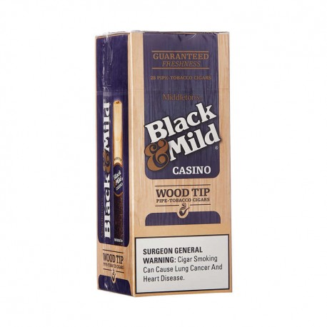 Black & Mild 25ct bx Wood Tip  -  CASINO