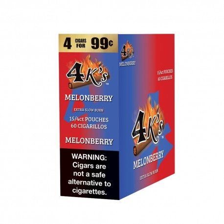 4 Kings Cigarillo 15/4ct Pouch - MELONBERRY