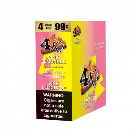 4 Kings Cigarillo 15/4ct Pouch - PINK LEMONADE