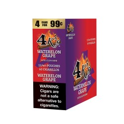 4 Kings Cigarillo 15/4ct Pouch - WATERMELON GRAPE