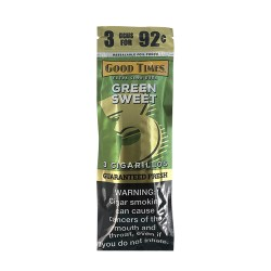 Good Times 15ct Cigarillo 3/$.92 FOIL - Green Sweet