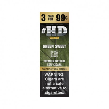 High Definition Cigarillo 3/$.99 FOIL - Green Sweet