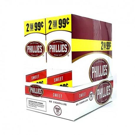 Phillies 30ct Cigarillos 2/$.99  -  SWEET