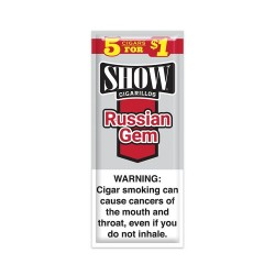 Show Spiral 15ct Cigarillos 5/$1.00 - RUSSIAN GEM