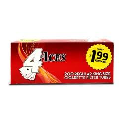 4 Aces Tubes - King Regular 5/200ct  PP $1.99