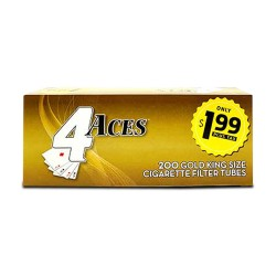 4 Aces Tubes - King Gold 5/200ct  PP $1.99