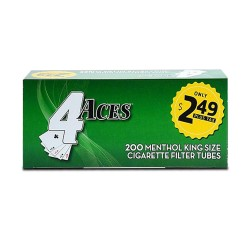 4 Aces Tubes - King Menthol 5/200ct  PP $2.49