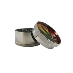 GRINDER 3 PART RASTA LEAF
