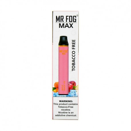 Mr Fog MAX Disposable 10ct Tobacco Free APPLE PEACH ICE