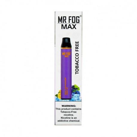 Mr Fog MAX Disposable 10ct Tobacco Free GRAPE BLUE RASPBERRY LEMON