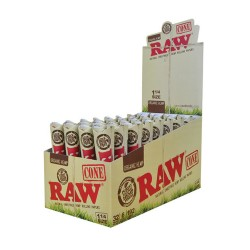 "RAW Papers - Pre-Rolled Cone Organic Hemp - 1.25"" 32/6pk"