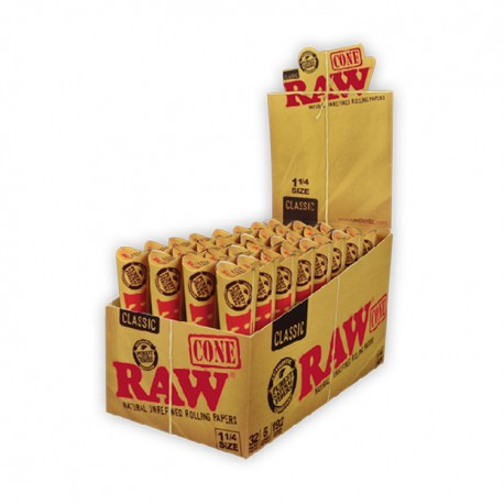"""RAW Papers - Pre-Rolled Cone  - 1.25"""" 32/6pk"""