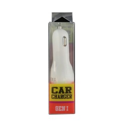 GEN I  Car Charger -  WHITE