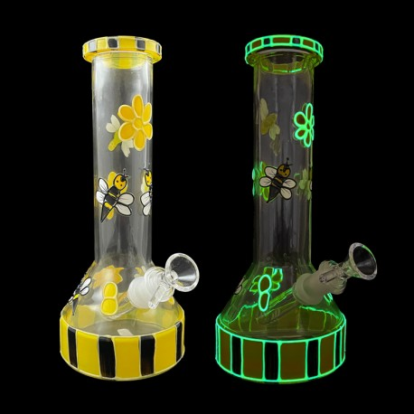 """10"""" Water Pipe G.I.D. Painted Bee"""