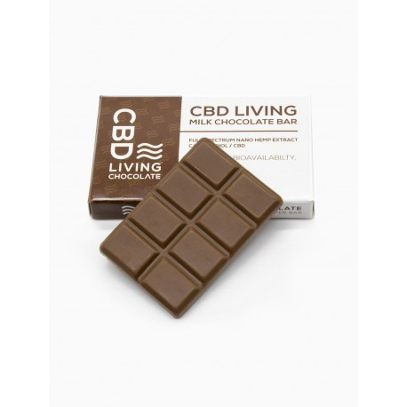 CBD Living (1) 8ct  120mg  pack  Chocolate Bar _ MILK
