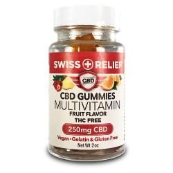 Swiss Relief - Gummies - 250mg - MULTIVITAMIN SUGAR FREE (Fruit)