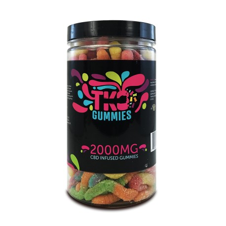 Terp Nation Gummies 2000mg SOUR WORMS
